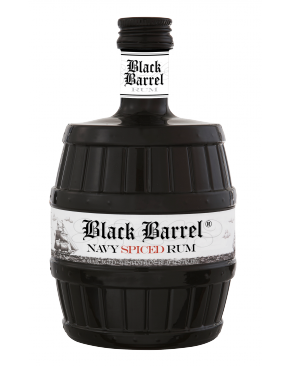 "A.H. Riise "" Black barrel "" Danish navy spiced rum  40% vol.0.70 l"