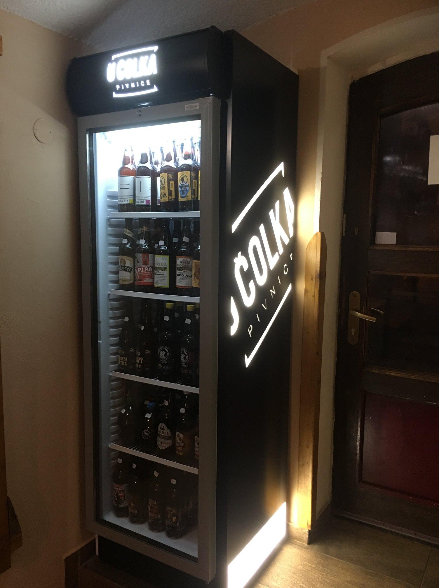 Lednice plná piv